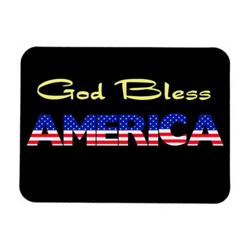 Patriotic God Bless America Magnets