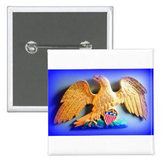 patriotic golden eagle button