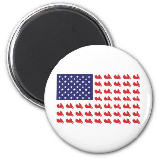 Patriotic Goldwing Motorcycle Magnet
