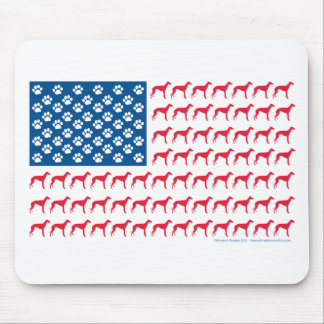 Patriotic Greyhound Dog Mouse Pad