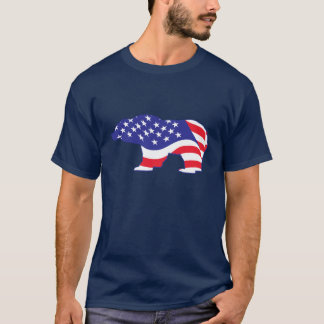 Patriotic Grizzly Bear T-Shirt