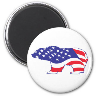 Patriotic-Grizzly Magnets