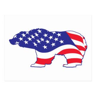 Patriotic-Grizzly Postcard