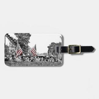 Patriotic Group Women American Flag Circa 1910 Luggage Tag