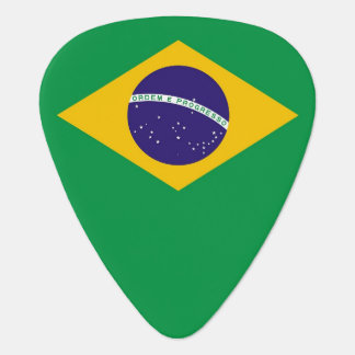 Patriotic guitar pick with Flag of Brazil