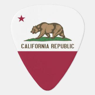 Patriotic guitar pick with Flag of California