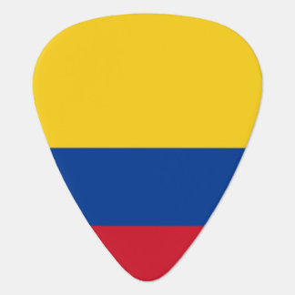 Patriotic guitar pick with Flag of Colombia