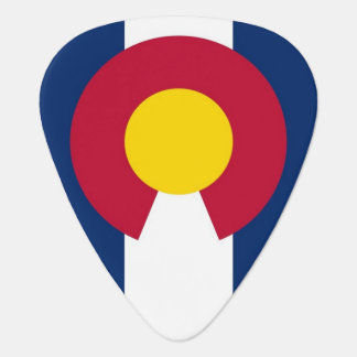 Patriotic guitar pick with Flag of Colorado