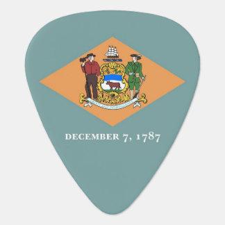 Patriotic guitar pick with Flag of Delaware