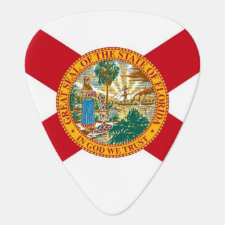 Patriotic guitar pick with Flag of Florida