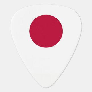 Patriotic guitar pick with Flag of Japan