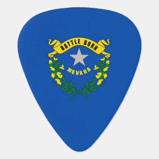 Patriotic guitar pick with Flag of Nevada