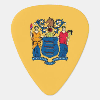 Patriotic guitar pick with Flag of New Jersey