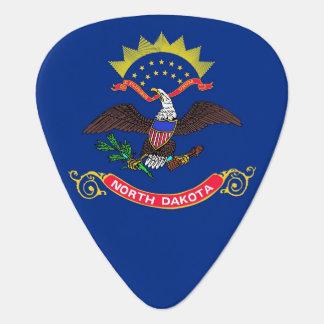 Patriotic guitar pick with Flag of North Dakota