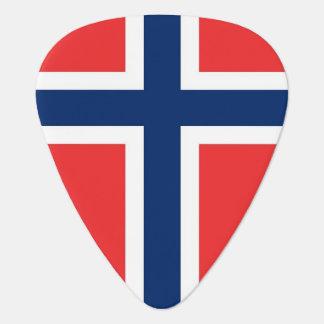 Patriotic guitar pick with Flag of Norway