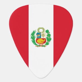 Patriotic guitar pick with Flag of Peru