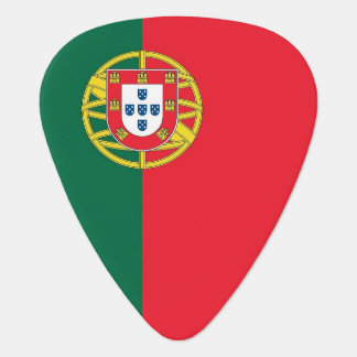 Patriotic guitar pick with Flag of Portugal