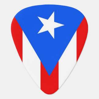 Patriotic guitar pick with Flag of Puerto Rico