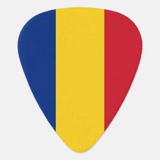 Patriotic guitar pick with Flag of Romania