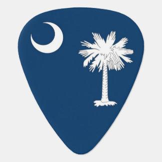 Patriotic guitar pick with Flag of South Carolina