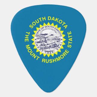 Patriotic guitar pick with Flag of South Dakota