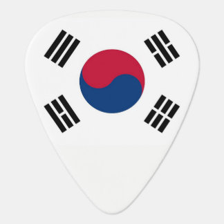 Patriotic guitar pick with Flag of South Korea