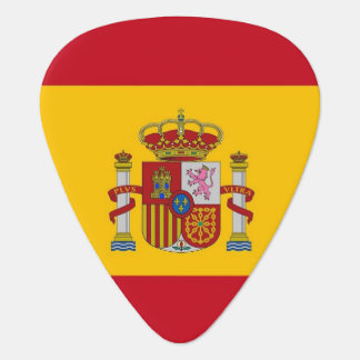 Patriotic guitar pick with Flag of Spain