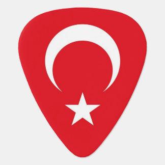Patriotic guitar pick with Flag of Turkey