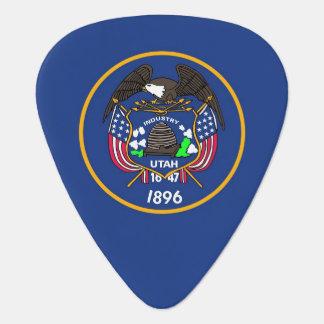 Patriotic guitar pick with Flag of Utah