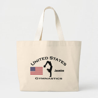Patriotic Gymnastics Tote Bag