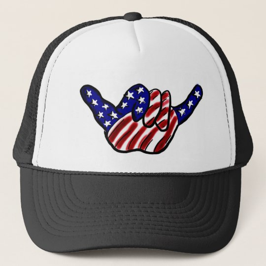 Patriotic hang loose hat