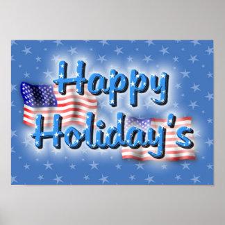 Patriotic Happy Holiday's Poster