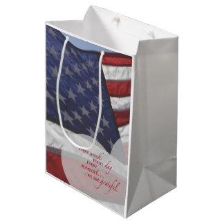 Patriotic Heart Flag, Military Appreciation Medium Gift Bag