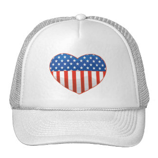 Patriotic Heart hat