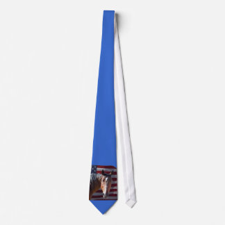 Patriotic Horse and USA  Flag Tie