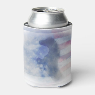 Patriotic Horse Can Cooler
