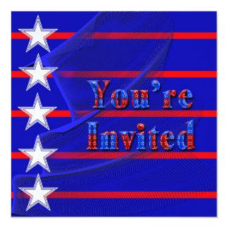 Patriotic Invitation - Multi-Purpose - Stars/Strip