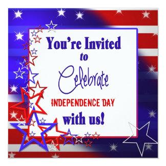 Patriotic Invitation - Stars and Stripes