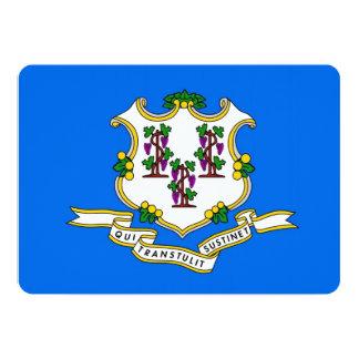 "Patriotic invitations with Flag of Connecticut 5"" X 7"" Invitation Card"