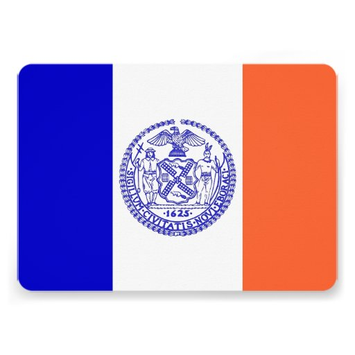 Patriotic invitations with Flag of New York City