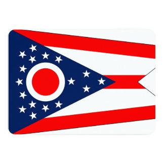 Patriotic invitations with Ohio Flag