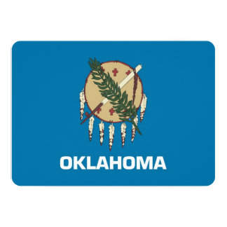 Patriotic invitations with Oklahoma Flag