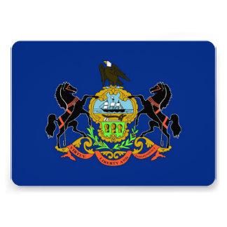 Patriotic invitations with Pennsylvania Flag