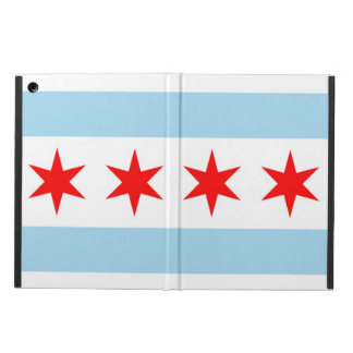 Patriotic ipad case with Flag of Chicago, Illinois