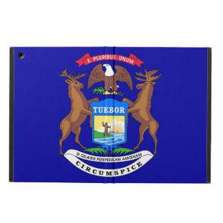 Patriotic ipad case with Flag of Michigan