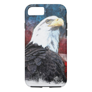 Patriotic iPhone 7 Shell with Bald Eagle and Ameri iPhone 8/7 Case