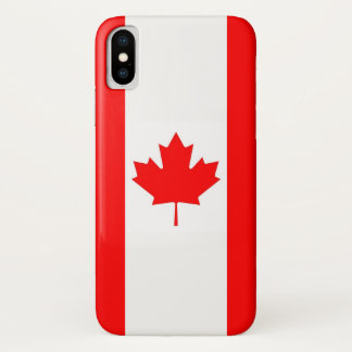 Patriotic Iphone X Case with Flag of Canada