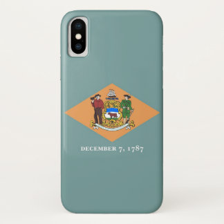 Patriotic Iphone X Case with Flag of Delaware