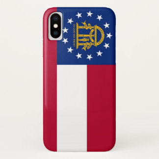 Patriotic Iphone X Case with Flag of Georgia