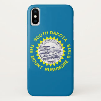 Patriotic Iphone X Case with South Dakota Flag